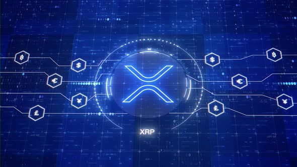 XRP animated logo. XRP cryptocurrency. Ripple crypto motion graphics in 3D [Nulled Download]